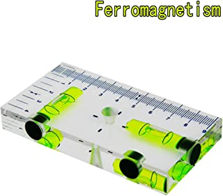 T-Type Level Bubble Magnetic blisters Two directions Spirit Level Size 95x51x13mm