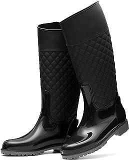 gracosy Regnstövlar för kvinnor vattentäta Wellington stövlar damer höga gummistövlar regnskor för utomhus mode komfort dr...
