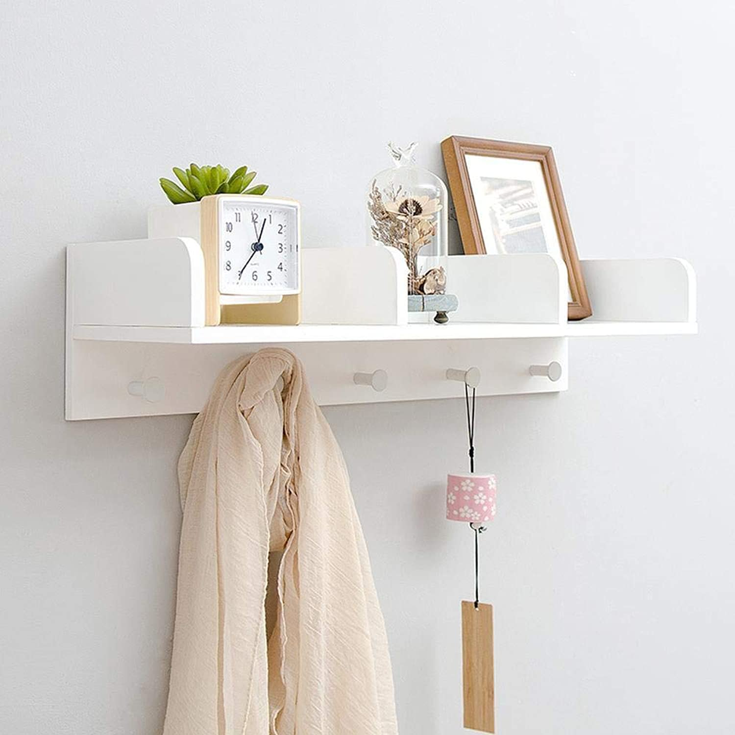 Yunfeng Shelf Creative Bamboo Wall Shelf Wall Storage partition Board Solid Wood Hook Wall Frame