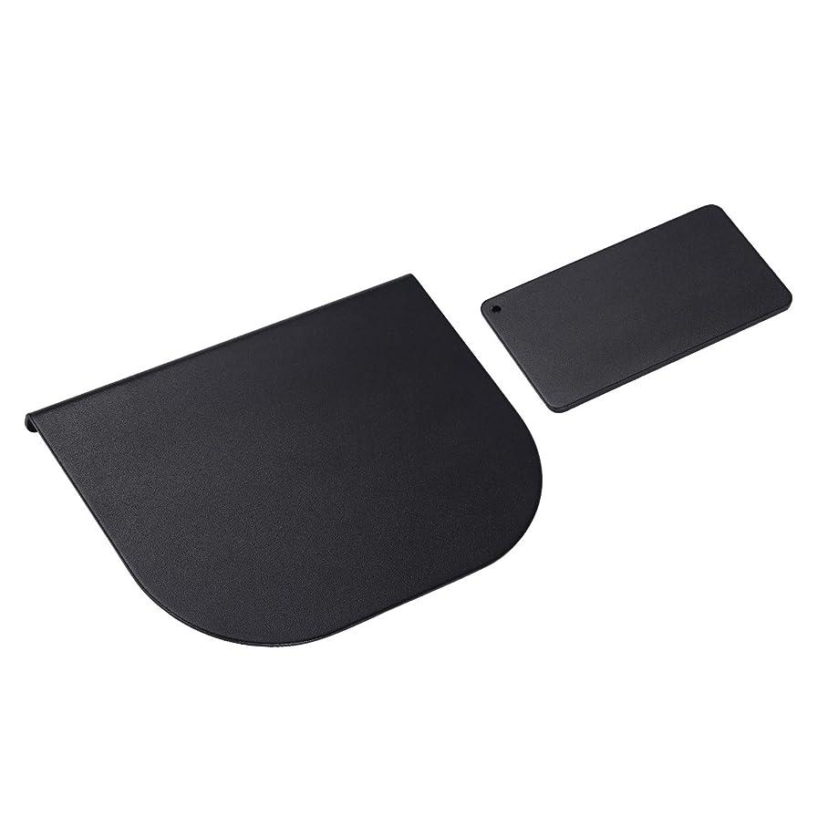 眠り真珠のようなバリーZepSon モニターアーム補強プレート 取付部硬さ強化対策 デスク保護 傷防止 滑り止めシート付き 黒色