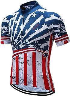 Shenshan Men's USA Style Bike Jersey Sports Tops Cycling Clothing