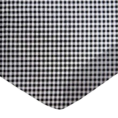 Best Bargain SheetWorld Fitted Pack N Play (Graco Square Playard) Sheet - Black Gingham Check - Made...