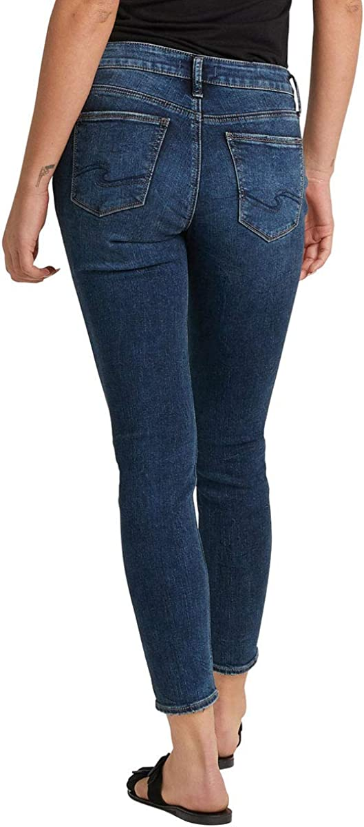 Silver Jeans Co Womens Suki Curvy Fit Mid Rise Skinny Jeans