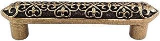 Vicenza Designs P1300 Fleur de Lis 4-Inch Pull, Antique Brass