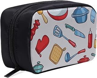 Zippered Makeup Bag Knife And Fork Eating Tool Beauty Travel Bag Cross Woman Bag Womens Bag Travel Cosmetic Bags Multifunction Case Cosmetic Bag Zip