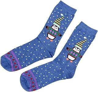 Charter Club Women/'s Holiday Crew Socks Scarf Sheep Light Blue Size 9-11