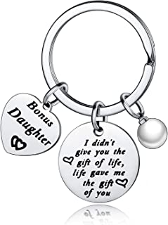 Nimteve Daughter Gifts from Mom I Didn't Give You The Gift of Life Life Gave Me The Gift of You Bonus Daughter Gifts