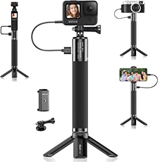 Ulanzi カメラハンドグリップ 充電式 バッテリーグリップ +三脚 +スマホホルダー +goproに対応してアダプター 10000mAh insta360 one x2/Gopro Hero 9/8/7/Gopro Max/iPhone 1...