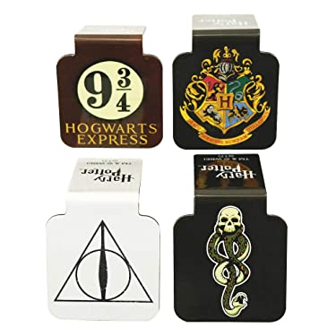 "Ata-Boy Harry Potter Assortment #1 Set of 4 1"" Magnetic Page-Top Bookmarks"