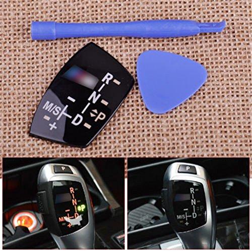 Gear Shift Knob Panel Sticker LHD Models at for BMW X1 X3 X5 X6 F01 F10 F30 F35 F18 GT 1 3 5 6 7(Long Type)
