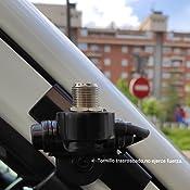Zerone - Antena de Radio de Coche giratoria de 360 Grados con Soporte de Montaje para la Tapa del Maletero/Puerta Trasera