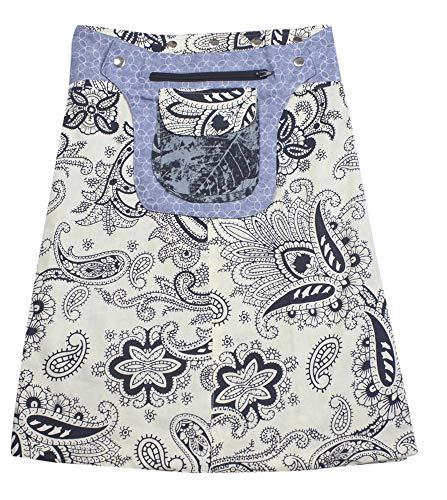 Sunsa Damen Rock Knielang Sommerrock Wickelrock aus luftiger Baumwolle, 2 Designs midi Röcke in einem, Skirt Größe verstellbar, Geburtstag Geschenk für Frauen, Hippie Boho Bekleidung 15742