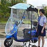 Paraguas Universal para Motocicleta, Parasol, para Lluvia, Parasol de Coche eléctrico Totalmente Cerrado, Impermeable, Parabrisas con Visera de Bicicleta de Motor, D