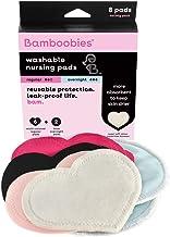 Bamboobies Washable Nursing Pads For Breastfeeding Variety Pack| Reusable Breast Pads| 4 Pairs| 3 Regular Pairs + 1 Overni...