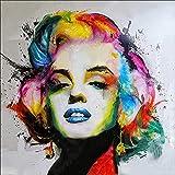 Kit de pintura de diamantes 5D por número, retrato Marilyn Monroe Crystal bordado punto de cruz arte Craft suministro para decoración de la pared del hogar 30 x 30 cm