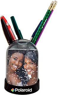 """Polaroid PL2X3SGPC Snow Globe & Pen/Pencil Holder Photo Frame-Display for Your 2x3"""", Colorful"""
