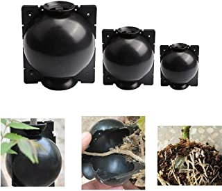 NIONE 3PCS Reusable Plant Rooting Device,High Pressure Propagation Ball High Pressure Box Grafting Plant Propagator Effective Asexual Reproduction Equipment(S/M/L) (Black)