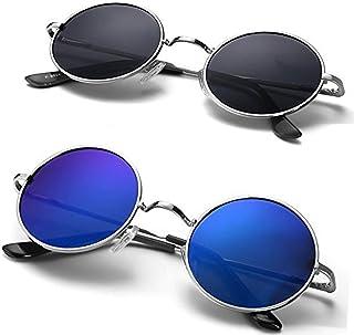 ae99e5def8fc Eye Collection Non-Polarized UV-Protected Round Unisex Sunglasses (EYE05,  55,