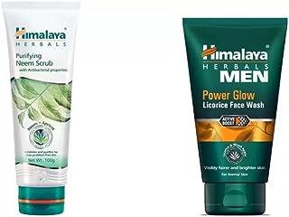 Himalaya Combo of Purifying Neem Scrub, Men Power Glow Licorice Face Wash