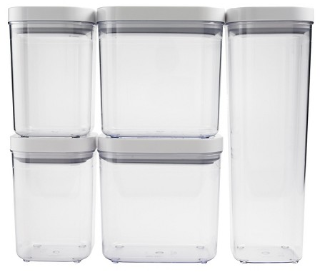 OXO 5 pc Food Storage Canister Set - Clear : Target