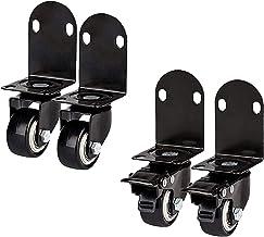 4 stks L-type Meubilair Caster Wheels, Swivel Casters met rem, Rechthoek Stuurmeubilair Caster, voor thuismeubilair, Offic...