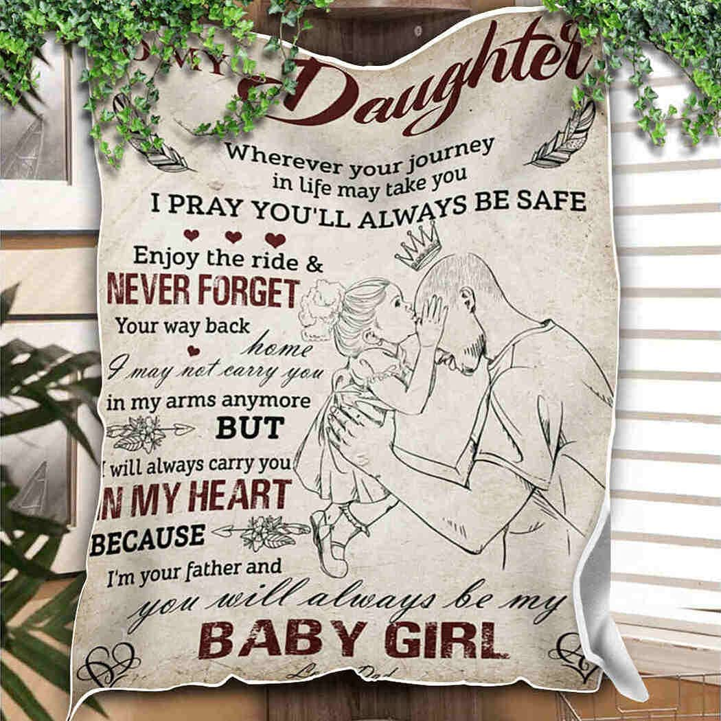 Little Girl Blanket You Will Always Baby My Throw Blanke Be Super Special SALE held New Orleans Mall