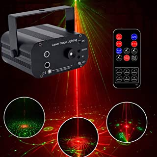 Christmas Laser Projection Lamp, 48 Pattern Outdoor Voice-Activated Waterproof Rotating Pattern Lamp with Remote Control f...