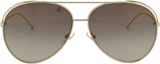 Luxury Fashion | Fendi Womens FF0286SJ5GFQ Gold Sunglasses | Season Permanent