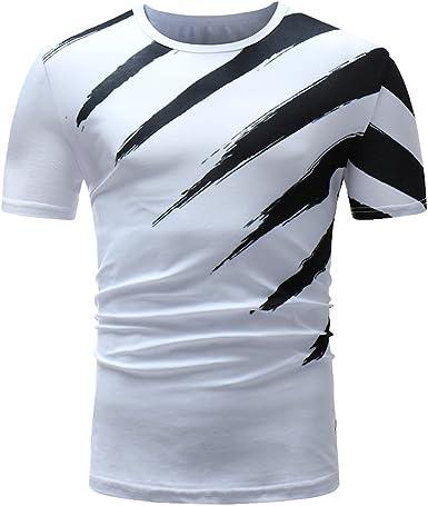 Muzboo Camiseta casual para hombre, diseño clásico en blanco y negro