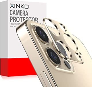 واقي عدسة الكاميرا من زينكو لهاتف ابل ايفون 12 برو ماكس، [عبوة من قطعتين] غطاء حلقي لعدسة الكاميرا، مادة معدنية عالية الجو...