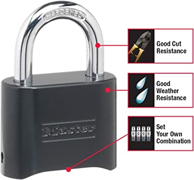 Master Lock 178D Set Your Own Combination Lock, 1 Pack, Black