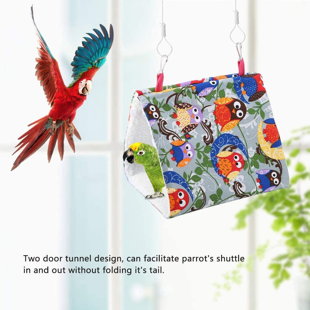 #1 Pet Bird Nest Hammock Warm Soft Hanging Cave House Triangular Durable Parrot Snuggle Hut Tent Bed Pet Supply Birds Cage Toy