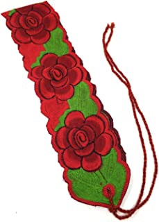 Traditional Mexican Belt Sach 36 inches 22 inches ties Colorful Floral Belt Mexican Fiesta theme Party