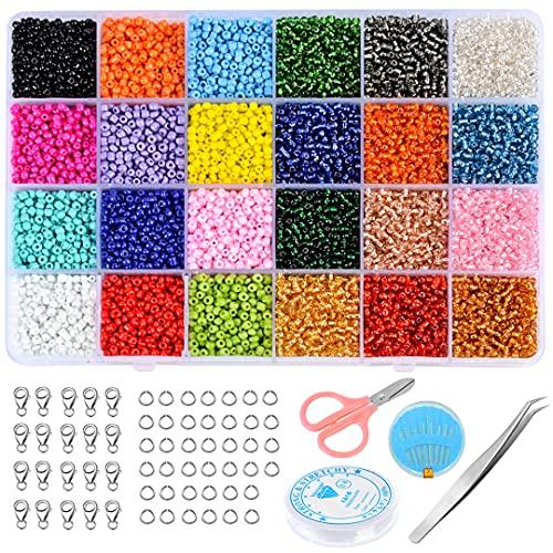 Kit de suministros para fabricación de joyas Accesorios Kit de joyería Herramientas para hacer joyas Anillos de alambre Gancho para pendientes Fabricación de joyas 17000pcs