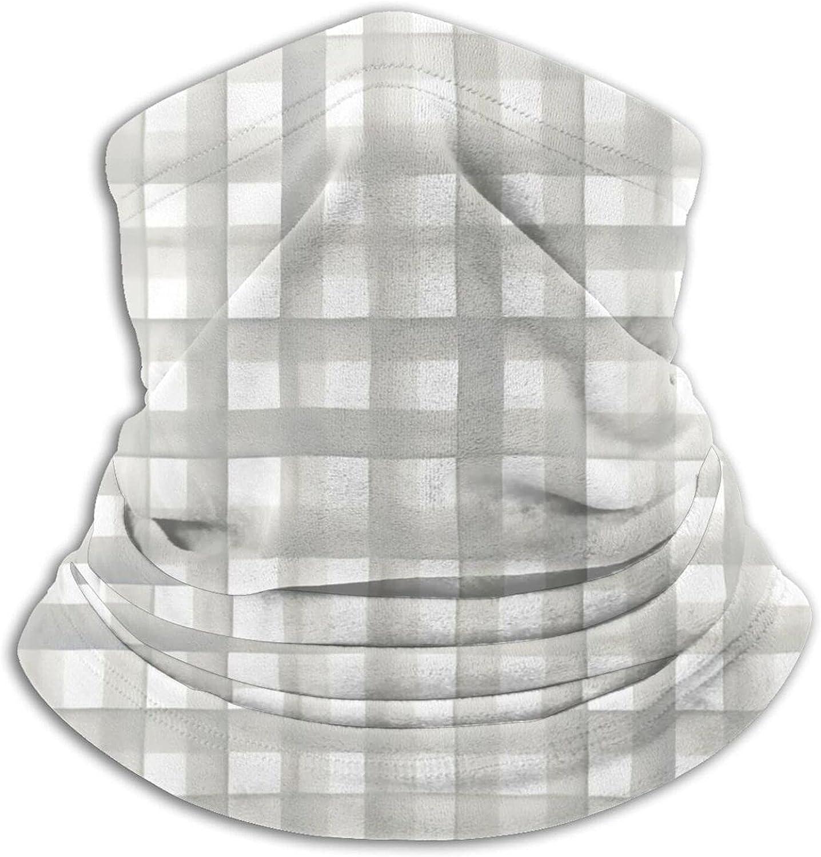 Watercolor Plaid Soft Gray Sage Bandanas Neck Gaiter Face Mask Scarf Face Shield