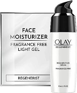Olay Regenerist Regenerating Serum, Fragrance-Free Light Gel Face Moisturizer 1.7 fl oz