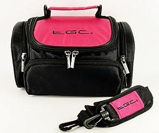 Case Bag van TGC ® voor TomTom Go 6200 Nav GPS met schouderriem en draaggreep (Hot Pink & Black)