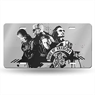 NEWSHOPCENTAL Sons of Anarchy License Plate Novelty Auto Car Tag 6 Inch X 12 Inch