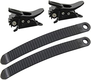 UP100® 1 Sets Snowboard Binding Parts 2 Ratchet Buckles and 2 Straps for Snowboard Strap-in System
