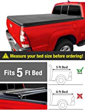 MaxMate Soft Tri-Fold Truck Bed Tonneau Cover for 2005-2015 Toyota Tacoma | Fleetside 5' Bed | for Models with or Without The Deckrail System