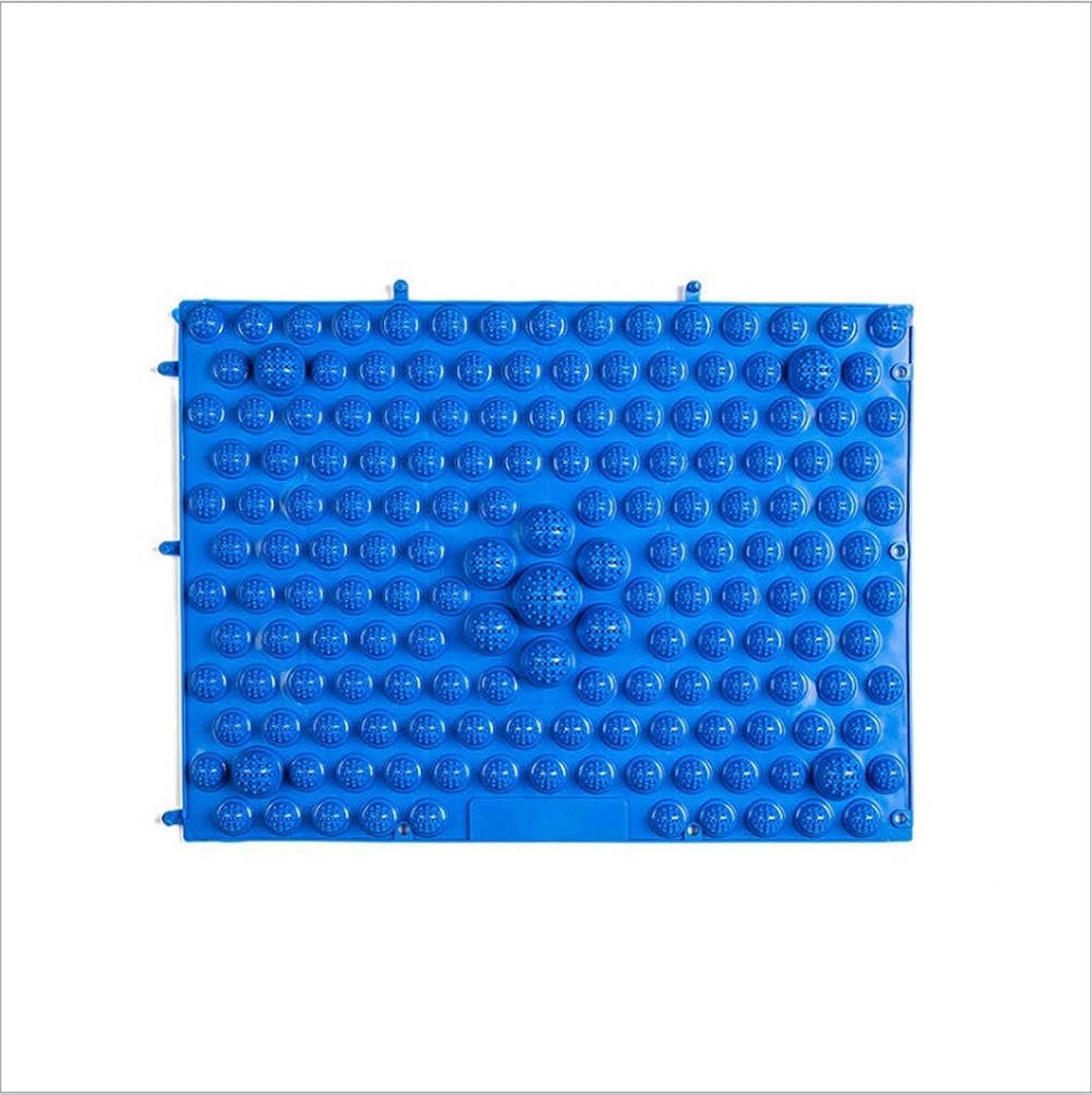 はねかける死の顎マークされたウォークマット 裏板セット(ABS樹脂製補強板付き)(ブルー)