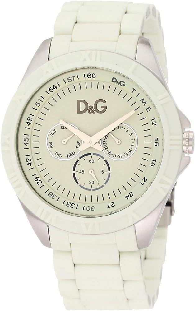 Dolce & gabbana orologio cronografo uomo in acciaio inossidabile DW0768
