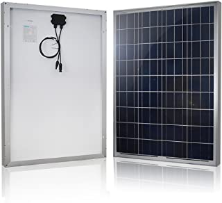 Renogy 100W 12V Solar Panel High Efficiency Module PV Power for Battery Charging Boat, Caravan, RV and Any Other Off Grid Applications, Single