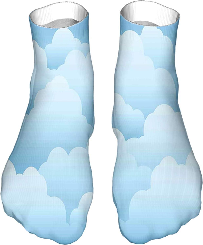 Women's Colorful Patterned Unisex Low Cut/No Show Socks,Digital Design Consecutive Segments Lamellar Look