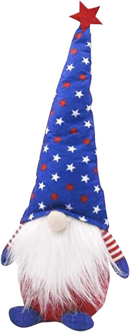 Choosebuy Gnome Plush Decorations 2021 Patriotic 4 Veterans depot Day Tomte