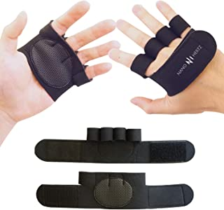 NH Weight-Lifting Crossfit Workout Fitness Gloves   Callus-Guard Gym Barehand Grips Accessories   Support Cross-Training, ...