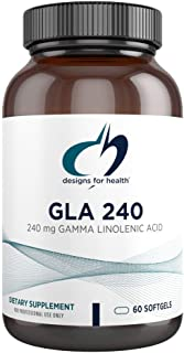 Designs for Health GLA Softgels - Borage Oil Pills, 240mg Gamma Linolenic Acid from Borage Seed - Non-GMO Supplement, May ...