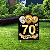 Yangmics Direct 70th Birthday 1951 - Outdoor Lawn Sign - Yard Sign - 1 Piece -Black Gold