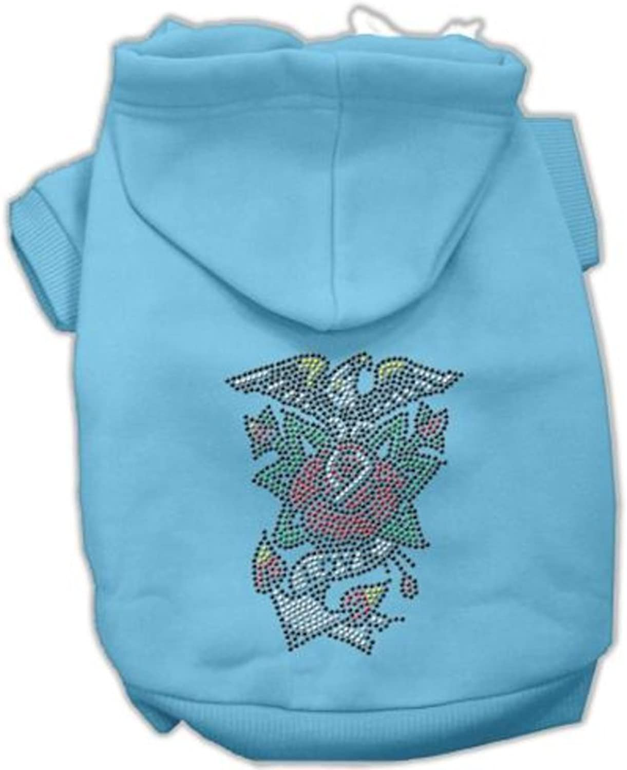Mirage Pet Products 18Inch Eagle pink Nailhead Hoodies, XXLarge, Baby bluee