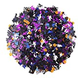 Halloween Clearance! HIGH QUALITUY-Material:ECO-Friendly PVC ,Weight: 300g per pack .They are thick and substantial not like typical confetti. BRIGHT COLOR-It's shiny and glitter, 5 colors including Purple ,white,black,deep blue,orange,Bright color m...